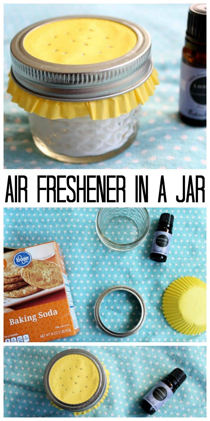 Make this essential oil air freshener in a jar for your home in minutes! A quick and natural way to add scent to any room!