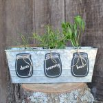 Make these garden markers in a mason jar shape for your herb garden this summer!
