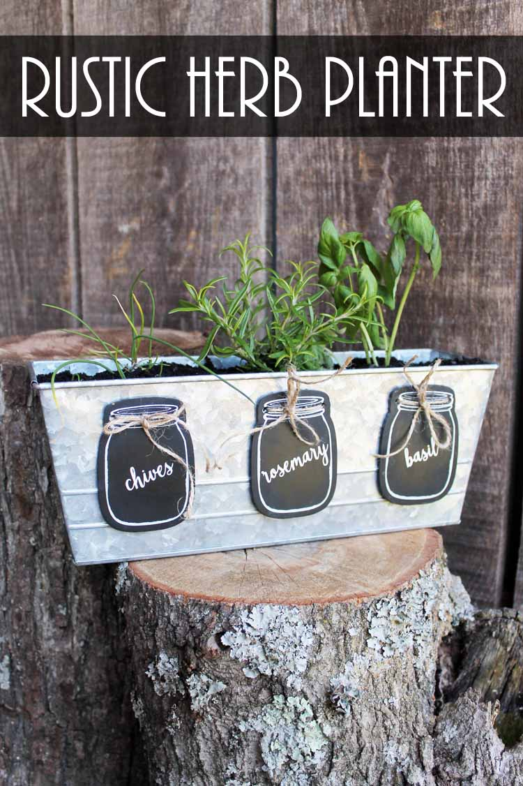 garden markers in a mason jar shape