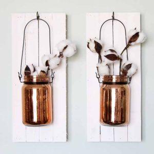 hanging mason jar for a wall