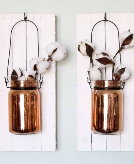 hanging mason jar for a wall