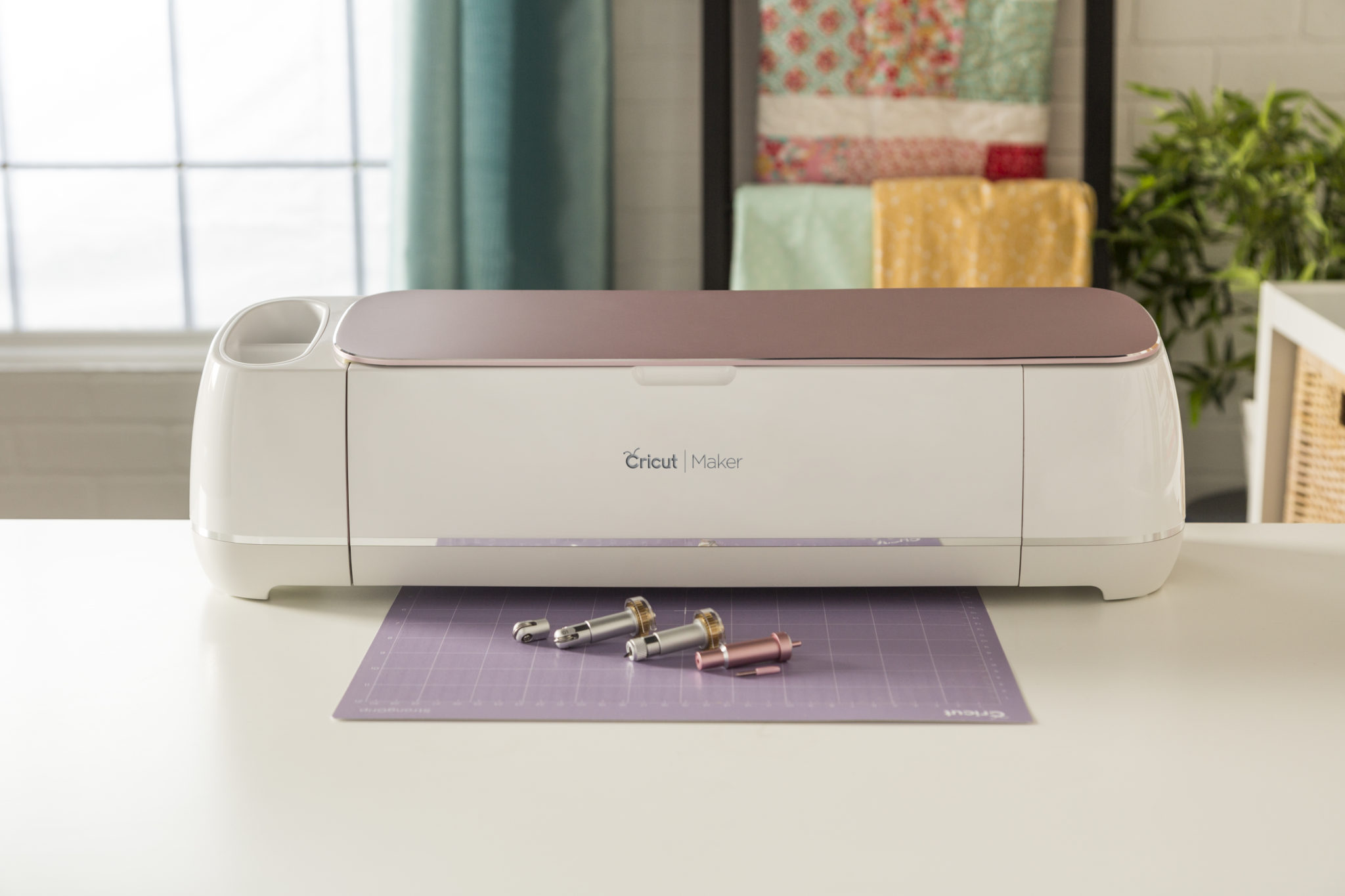 The new Rose Cricut Maker is a brand new color and includes new blade and cutting tools