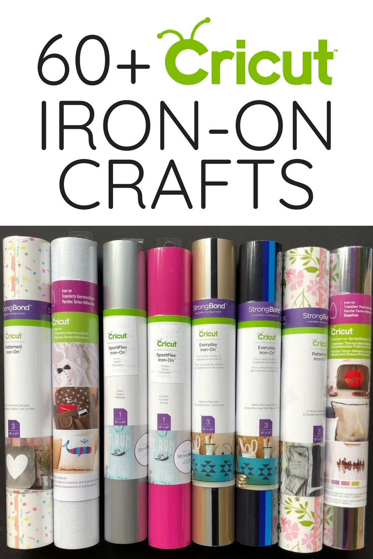 Over 60 Cricut Iron-on Crafts to make with your cutting machine!