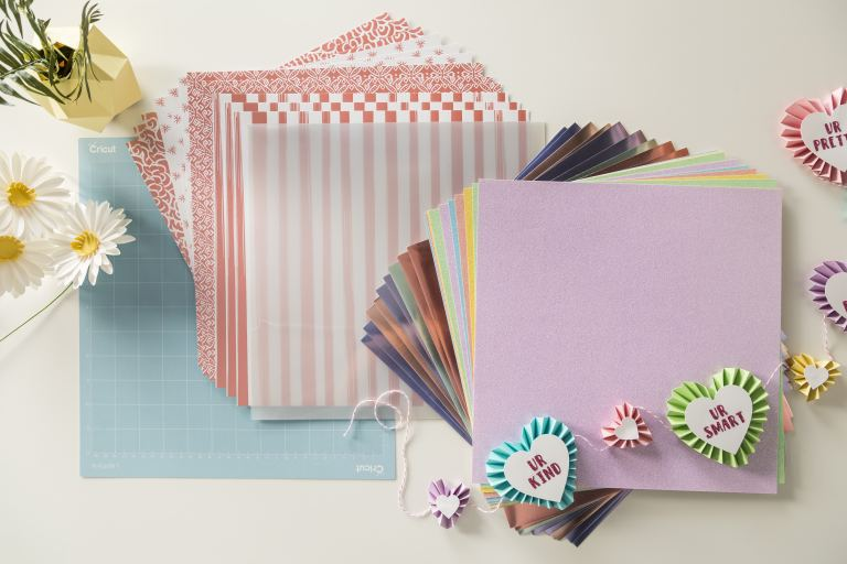 This Cricut Materials bundle comes with a collection of card stock that will inspire many new Cricut crafts!