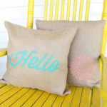 Burlap Pillows with Stenciled Designs