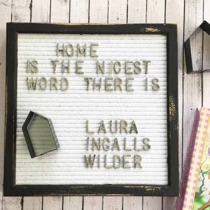 Give a changeable letter board a farmhouse style makeover with this easy to follow tutorial! You will love this rustic addition to your decor!