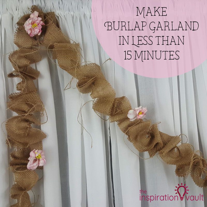 Quick and easy 15 minute crafts using burlap.