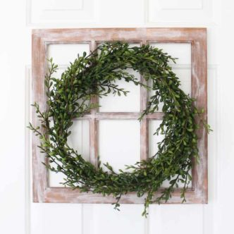 Farmhouse Window with a Wreath