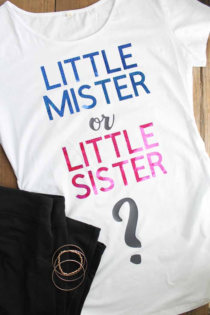 Gender reveal maternity shirt