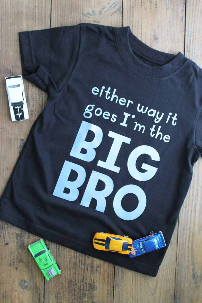 Gender reveal shirt for big brother