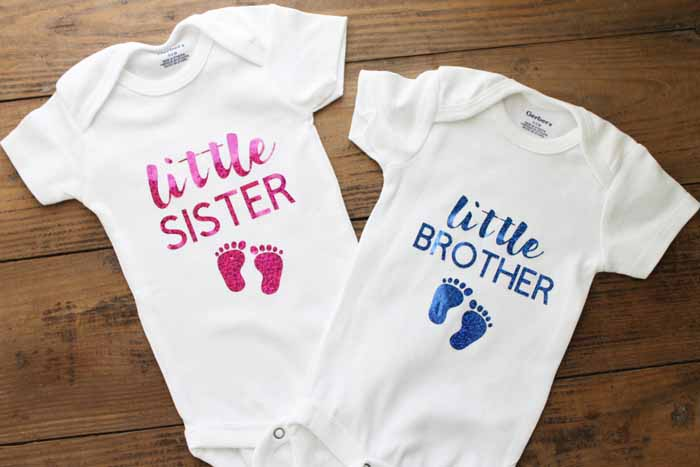 Gender reveal onesies for baby