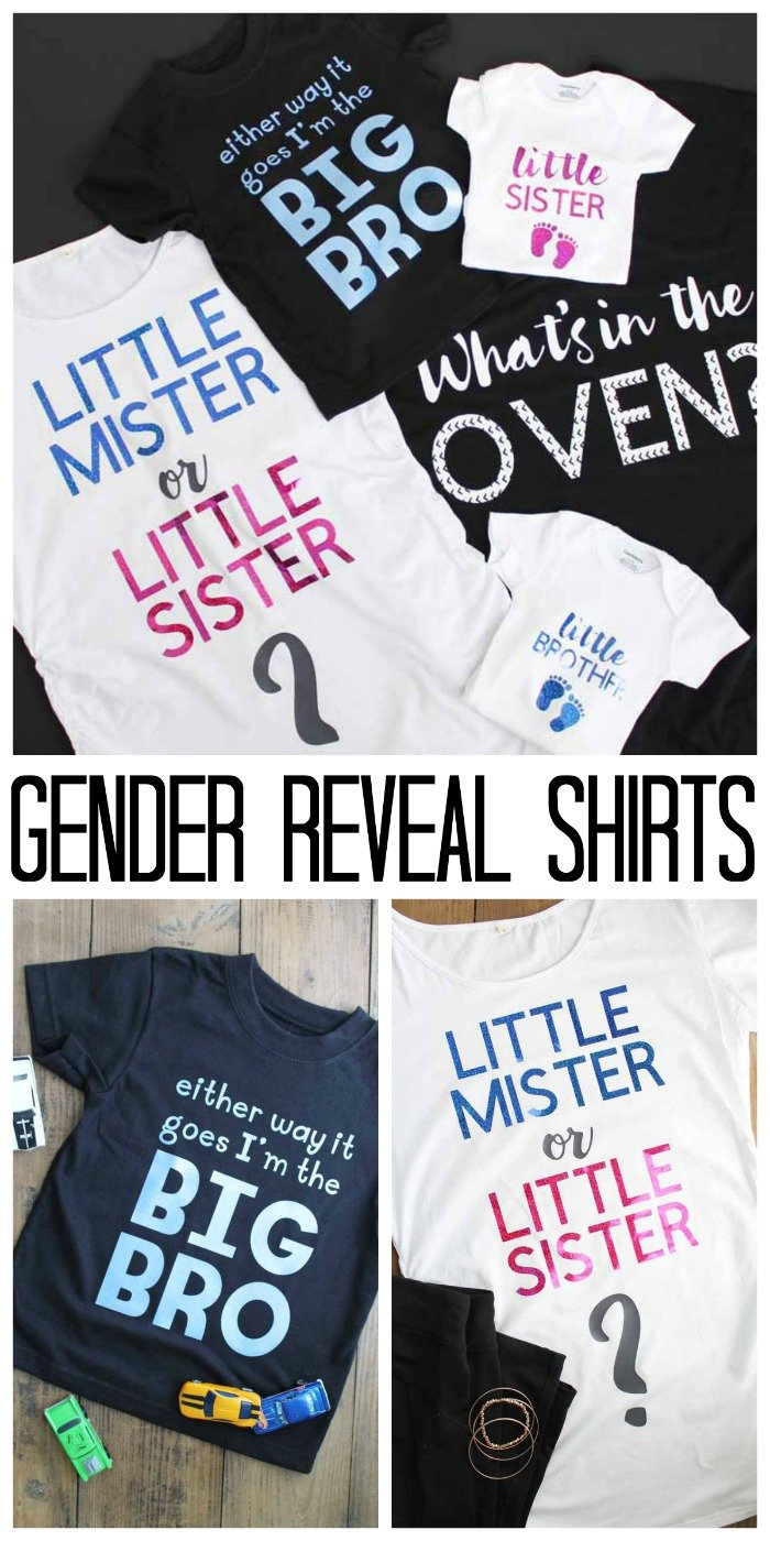 280dbf695c6d9 Great gender reveal ideas for family! Includes cut files for shirts for mom,  dad