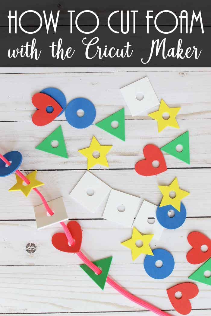 how to cut craft foam with the Cricut Maker