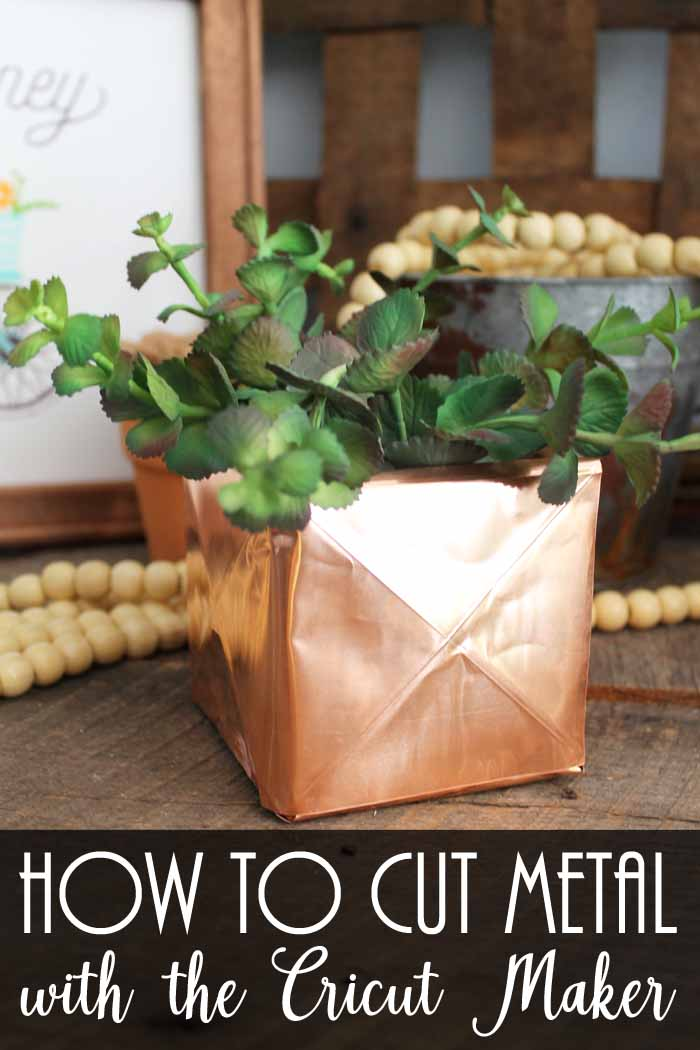 how to cut metal with the cricut maker