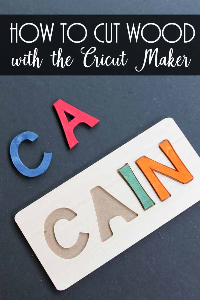 how to cut wood with the cricut maker