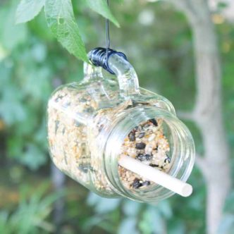 DIY Mason Jar Bird Feeder in Minutes