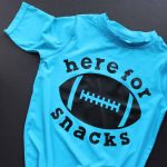 Learn all about SportFlex Iron-on and making shirts with some stretch in them! Get the cut file for this great toddler football shirt as well!