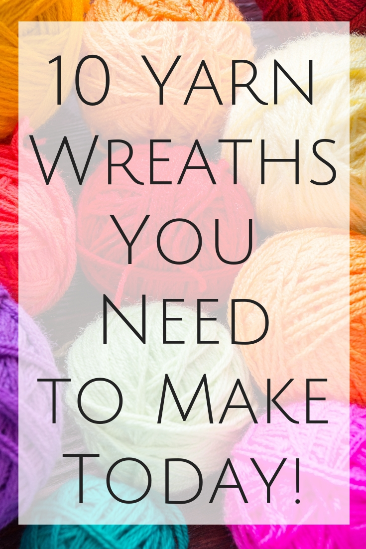 Great ideas for yarn wreaths that you need to make today! #yarn #crafts #wreaths