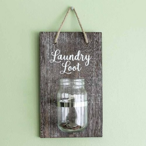 laundry loot mason jar