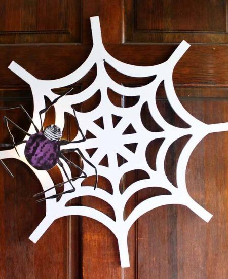 halloween wreath on a door
