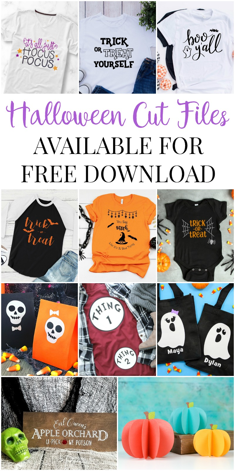 Free SVG files for Halloween for your Cricut or Silhouette machine.