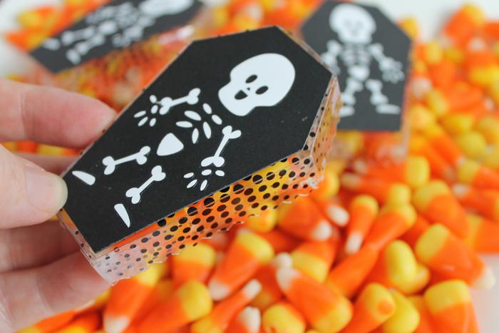 halloween coffin treat box