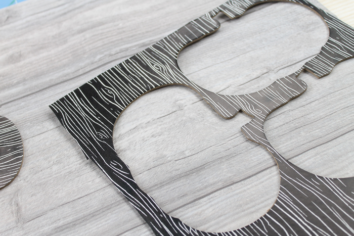 pumpkin shapes cut from chipboard