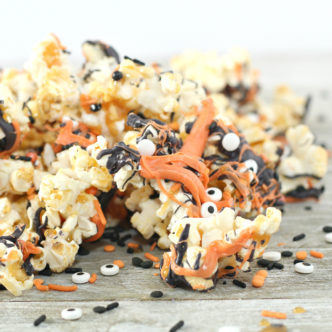 Halloween Popcorn:  The Perfect Party Mix