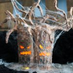 glowing face halloween tree