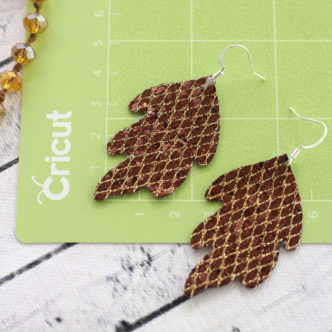 How to Make Leather Earrings with Your Cricut Machine