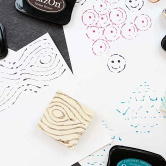 how to make stamps with hot glue