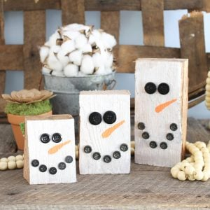 scrap wood projects snowmen