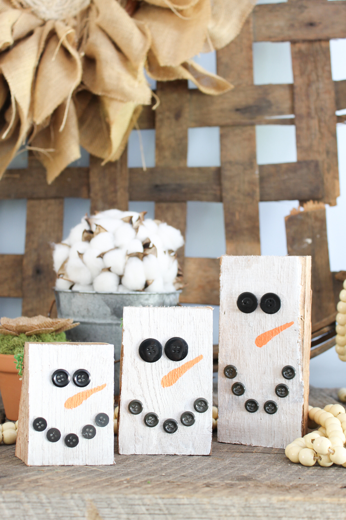 Scrap Wood Projects Reversible Pumpkins And Snowmen The Country