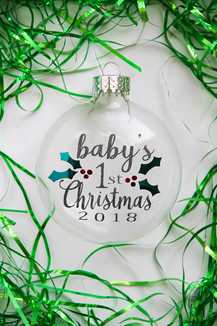 Babys First Christmas Ornament Free Svg File The Country Chic Cottage