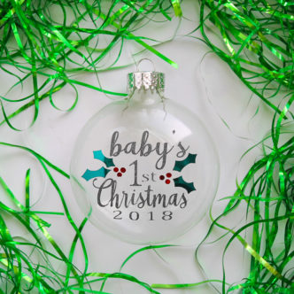 Baby's First Christmas Ornament Free SVG File