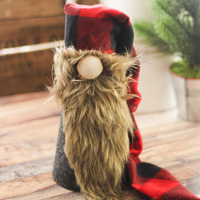 This adorable Christmas Scandinavian gnome is ready for the holidays at your home!