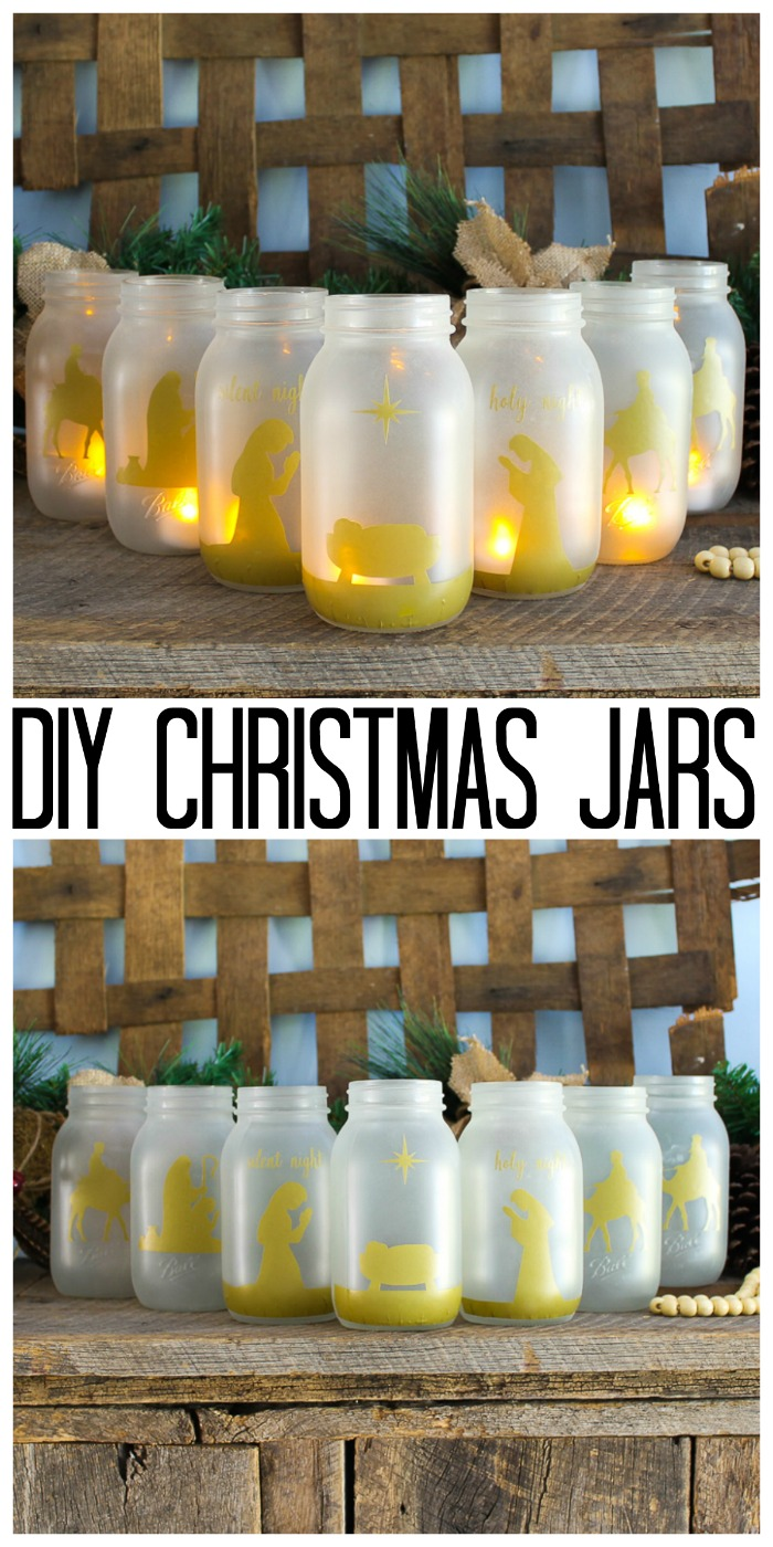 christmas jars nativity scene