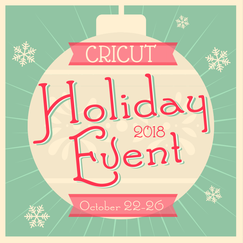 Cricut holiday event button