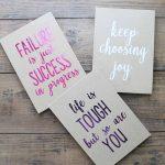 Custom Notebook Gift Idea with Iron-On