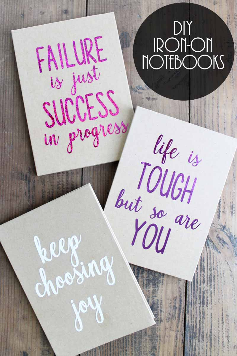 Make a custom notebook with iron-on and your Cricut machine! #cricut #cricutmade