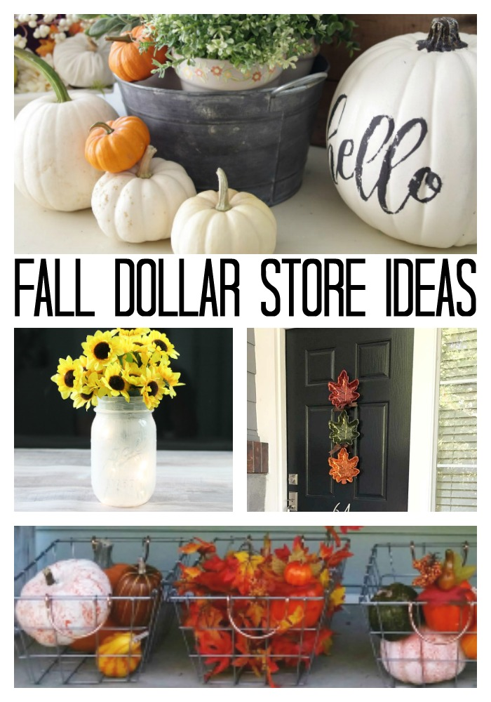 Make these fall dollar store crafts this year!  #dollarstore #fall #autumn #crafts