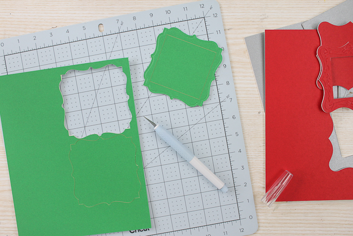 Cut mat board with your Cricut Maker.