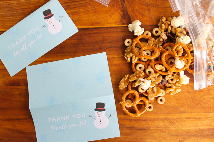 free printable snowman treat bag toppers