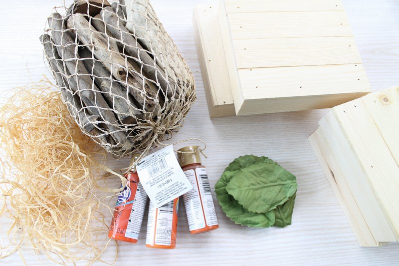 supplies to make pumpkins from rustic pallets