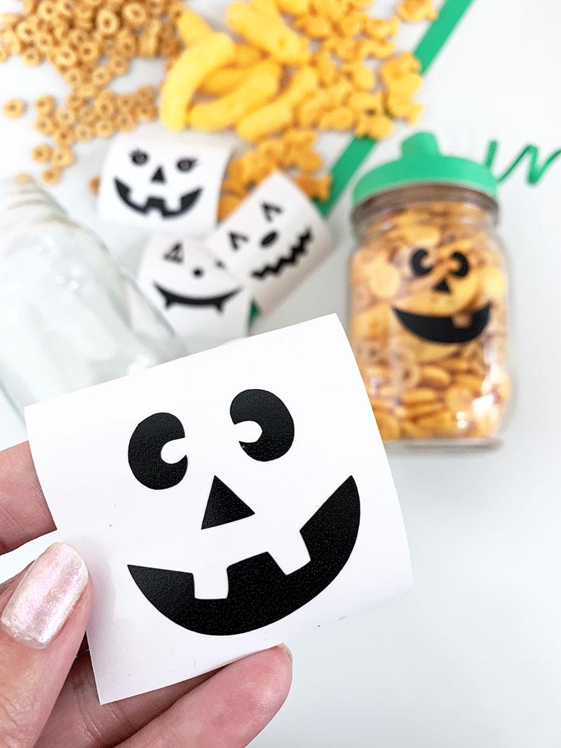 vinyl pumpkin face