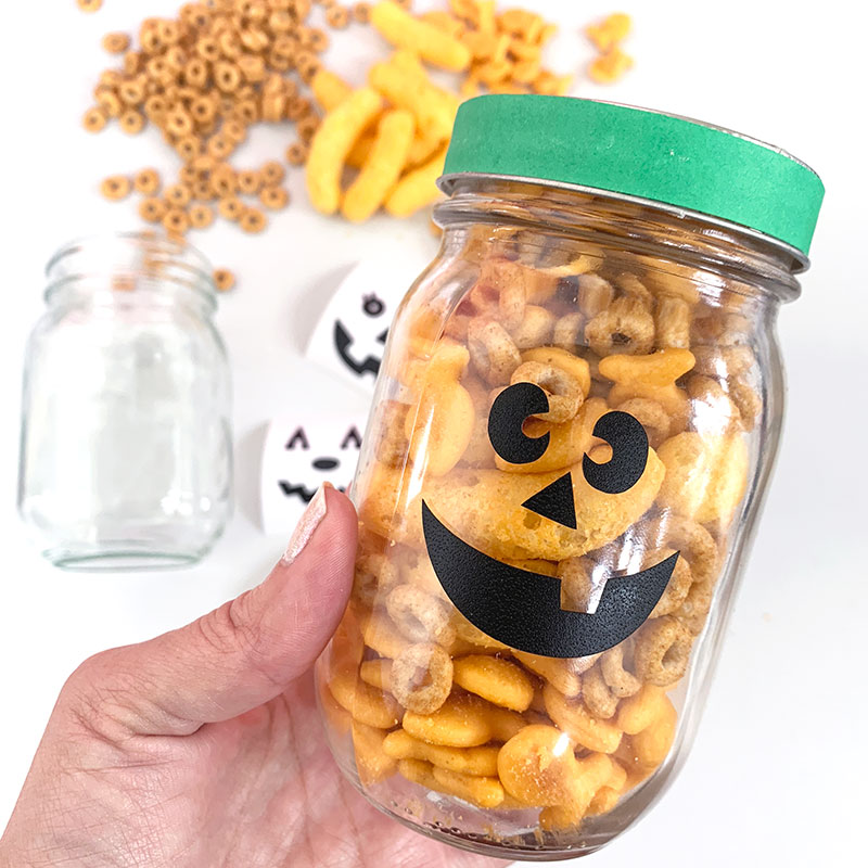 pumpkin snack jar