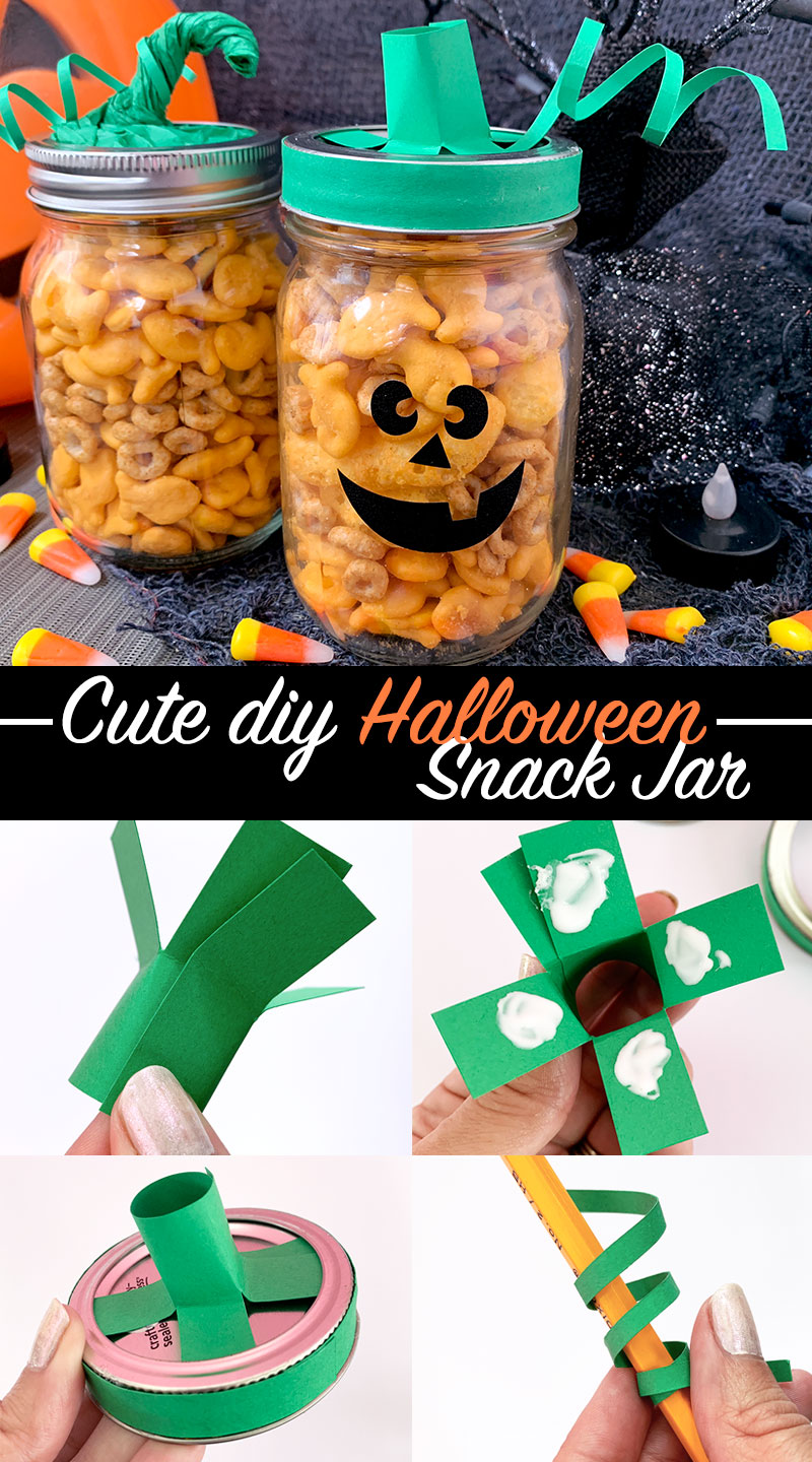 Cute Diy Halloween Snack Jar Craft The Country Chic Cottage