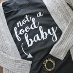 Make this Thanksgiving maternity shirt for someone you love! Includes the free cut file for your Cricut or Silhouette! #cricut #cricutmade #maternity #thanksgiving #heattreatvinyl