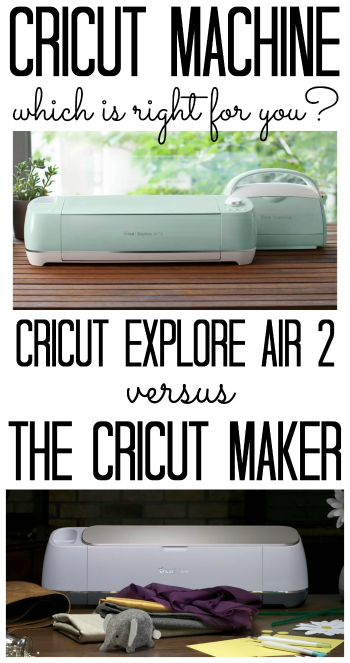 Which Cricut Machine is right for you? We are looking at the Cricut Maker versus the Cricut Explore Air 2. What are the features of both? The differences? The benefits? We have all of that and more! #cricut #cricutmade #cricutmachine #crafts #diy