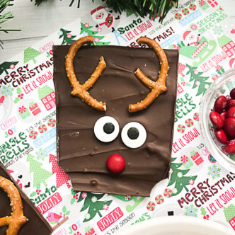 Christmas Bark with Reindeer